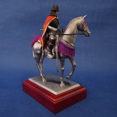 Photo3: Classic Historical Statue- Oda Nobunaga Riding on Horse(Red Mantle Version) (3)