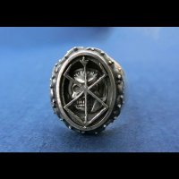 No.477 The Skull Knight & Mark of Sacrifice Silver Ring