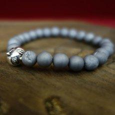 Photo3: Druzy Stone Beherit Bracelet (Egg of the King)BSS-B-03GR (3)