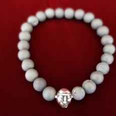 Photo2: Druzy Stone Beherit Bracelet (Eclipse)BSS-B-04GR (2)