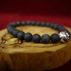 Photo6: Druzy Stone Beherit Bracelet (Eclipse)BSS-B-04BK (6)