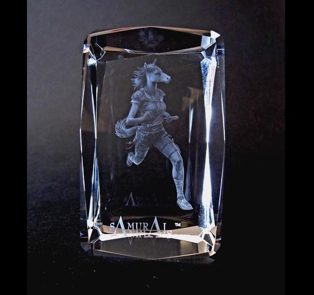Photo1: Premium Laser Crystal Figure Collection: Batou (1)