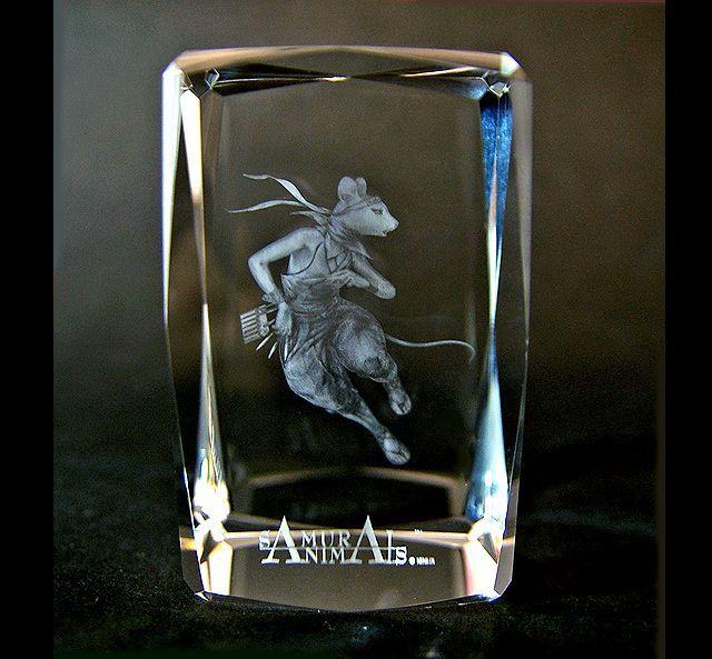 Photo1: Premium Laser Crystal Figure Collection: Hanzo (1)