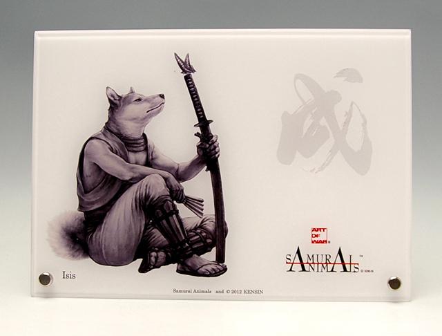 Photo1: SAMURAI ANIMALS-  Acrylic Panel Series  Dog *Stopped Production (1)