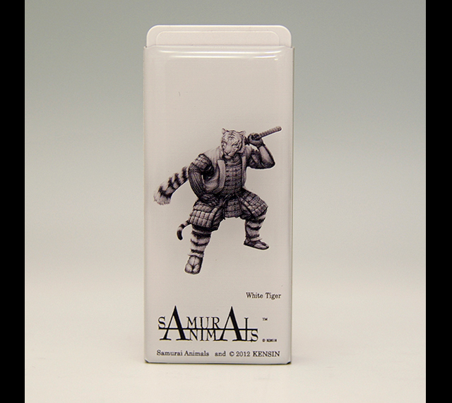 Photo1: SAMURAI ANIMALS-  FRISK  Mint Tablet Case Cover White Tiger  the Tiger Samurai *Stopped Production (1)