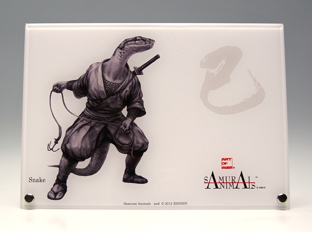 Photo1: SAMURAI ANIMALS-  Acrylic Panel Series -Snake *Stopped Production (1)