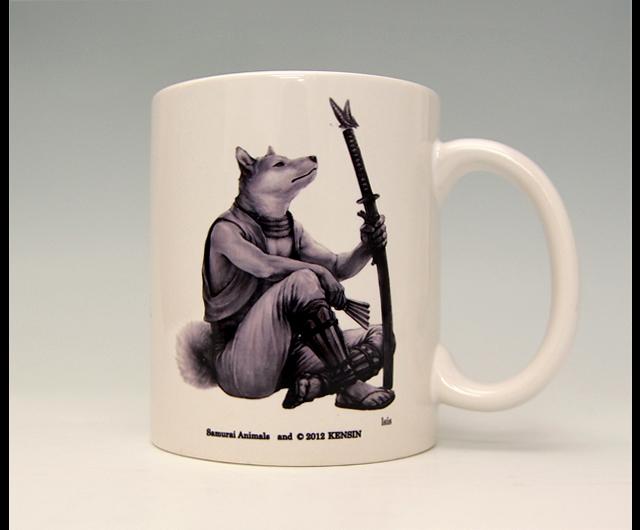 Photo1: SAMURAI ANIMALS-  Mug - Isis the Dog Samurai *Stopped Production. (1)