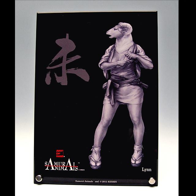 Photo1: SAMURAI ANIMALS-  Acrylic Panel Series  -Lynn *Stopped Production (1)
