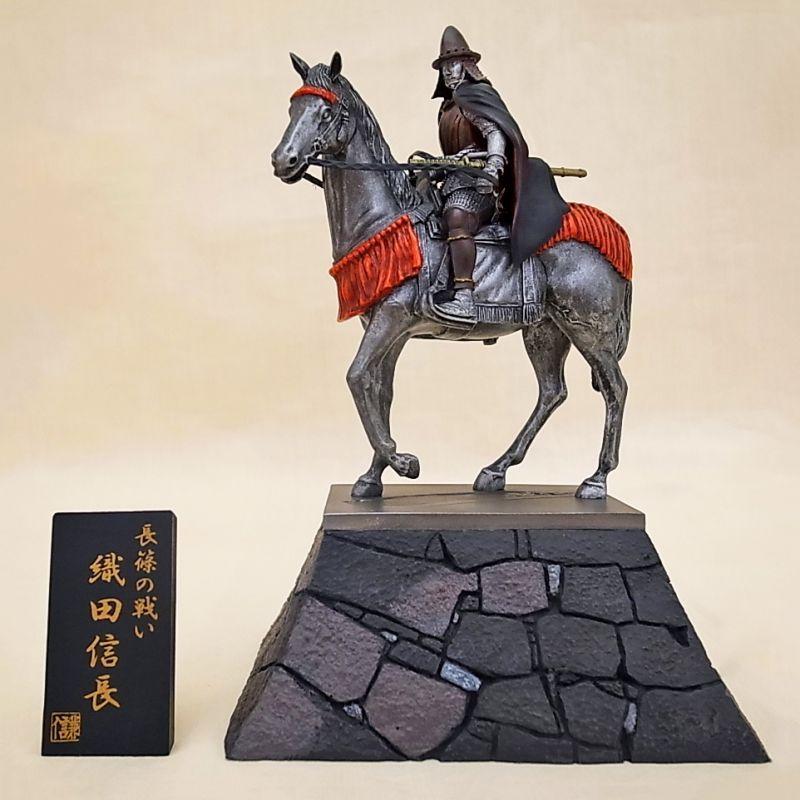 Photo1: Historical Equestrian Statue- Oda Nobunaga Riding on a Horse (1)