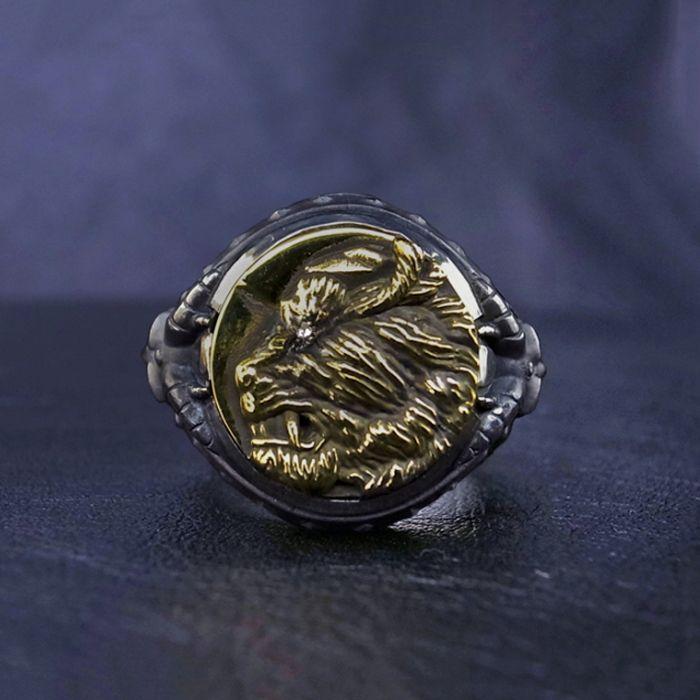 Photo1: No.310 Zodd *Silver Ring (attachment of Zirconia*stone-filled) (1)