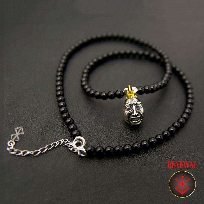 Photo1: No.273 Beherit Silver Pendant: Eclipse(Shoku) (Onyx Version)*attachment of brand stigma (1)