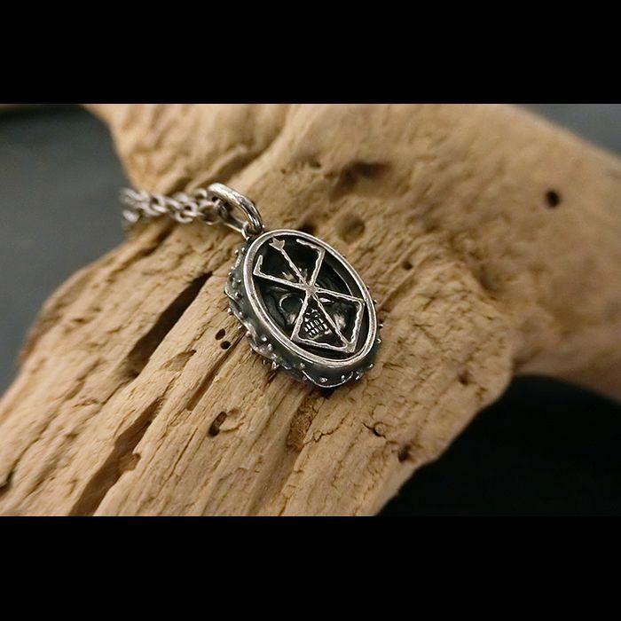 Photo1: No. 476 The Skull Knight & Mark of Sacrifice Silver Pendant  (1)